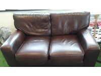 2 seat leather sofa in good condition