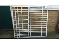 Solid metal window security grills