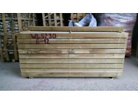 NEW SOFTWOOD PINE SLEEPERS - 2400MM X 200MM X 100MM @ £17.50 EACH.