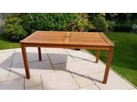 Large teak Steamer Garden Dining Table
