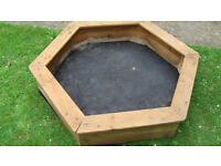 Child Sandpit With Fabric Bottom - Bottom edges decayed but treated.