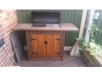 Bbq stand and bbq