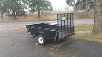 5x8 UTILITY TRAILER WITH MESH TAILGATE