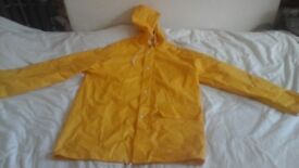 Yellow waterproof coat