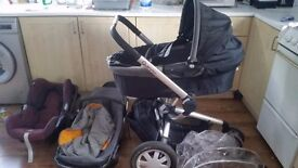 3 in 1 Quinny pram stroller puschair