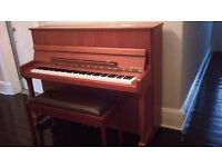Kemble Windsor upright Piano in excellent condition including leather duet stool