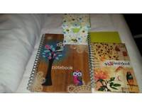 Notebooks , notepads in holder
