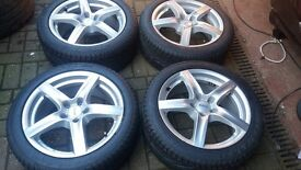 17 ALUTEC ALLOY WHEELS LOAD RATED 5 X 112 NEW TYRES INCLUDED GOLF MK5 VW T4 TRANSPORTER AUDI A4 SEAT