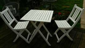 2 seater wooden garden table