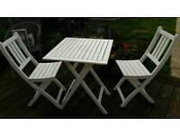 2 seater wooden garden table