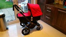 Bugaboo Cameleon 3 All Black with Red hood