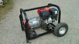 Clarke 2.4kva petrol generator on wheeled chassis