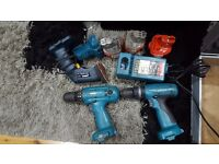 Makita Drill set 14.4v + Metal case