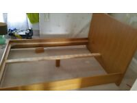 Double bed ( real wood )