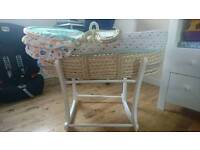 Mothercare moses basket with rocker stand