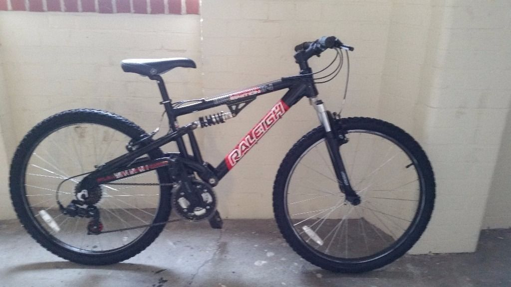 "Raleigh Ignition 26"" Mens mountain Bike frame suspension frame 17""/wheels 26/gears 21"""