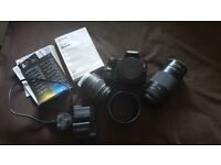 sony alpha A37 SLT kit with two lenses