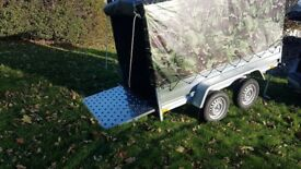 New Trailer 8.7 x 4.2 twin axle with ramp and cover 150 cm £1170 INC VAT