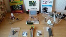 "Raspberry Pi (B model), accessories, books, MP3 player project, flat screen 31"" TV and much more"