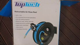 Open framed 15m x 3/8 inch Auto-retractable Air Line. Wall Mountable. Air Hose