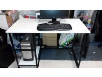 one seater office desk wooden table metal computer desk