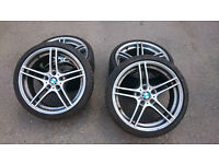 "bmw 313 m sport 19"" alloy wheels with tyres"