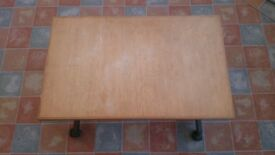 Small Brown Wheeled Table