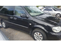 KIA SEDONA 7 SEATER DIESEL MPV WITH NEW MOT 133000 MILES, RECENT CAMBELT CHANGE. NICE 5 DOOR VEHICLE