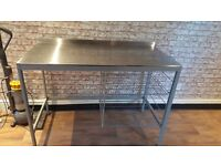 Stainless steel food prep counter