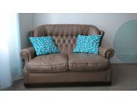 Leather sofa vintage style