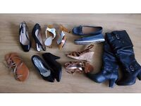 7 pairs of women's shoes in size 3