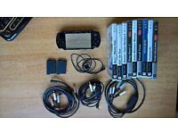Sony PSP 3000 with games, case and accessories
