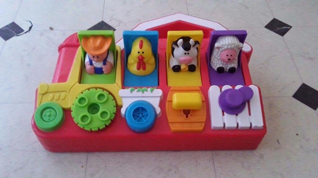 Fisher price barn animals pop up toy