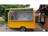 Mobile Catering Trailer Food Cart Burger Van Hot Dog Trailer 2800x1650x2300 Ready For Collection