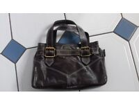 2 Tula leather brown handbags 1 small 1 medium sized