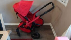 Concord Wanderer Travel System in Ruby Red