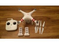 DJI Phantom 3 Standard Drone 2.7K camera with spare battery and Hardcase Shell, Extra Blades