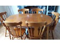 6 seater table and chairs