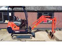 Kubota KX36-3 1.5 tonne mini digger 2007 Nice digger!