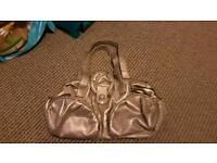 Metallic pearlescent bag