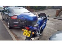 Blue triumph 955st with matching top box excellent condition for yr drives like new £2100 ono