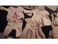 Baby girl jacket and clothes bundle 3-6 months