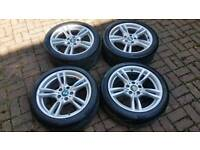 GENUINE BMW 18 INCH M SPORT ALLOY WHEELS 5X120 F30 F32 E90 3 4 SERIES VIVARO TRAFIC