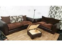 New/Ex display 3+2 seater with matching footstool**Free delivery**.