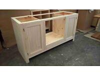 oven housing unit - handmade - bespoke - solid wood - pine - oak - kitchen unit - tulip wood