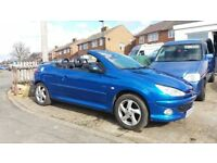 CONVERTIBLE PEUGEOT 206 MOT VALID FOR 12 MONTHS