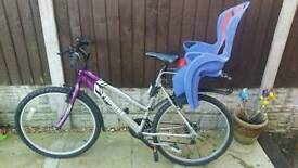 ***SOLD*** Ladies bike with child seat.