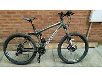 Carrera Banshee downhill mountain bike- about 2 years old, good condition, rarely used