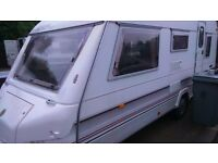 5 berth caravan with full awning