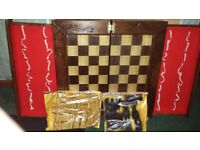 WOOD CHESS BOARD . if your reading this it will still be for sale